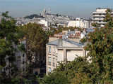 Montmartre vu depuis la butte Bergheire à Paris - 225127124