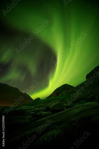 Aurora Borealis over Norwegian coast