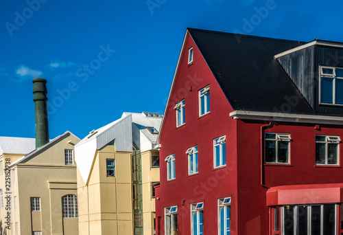 Colorful city center of Reykjavik, Iceland © Luis