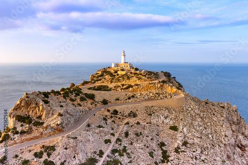 Mallorca Leuchtturm Kap Cap Formentor Landschaft Abend Natur Meer Reise Reisen Spanien