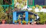 Flowery facade by the sea in Punta de Mujeres - Lanzarote / Canarias ( Spain )