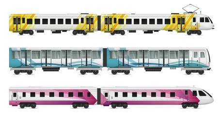 Rail Transport Cars Set