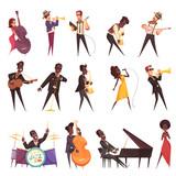 Musicians Playing Jazz Set