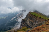 clouds in the Seceda in Dolomites