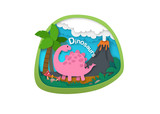 Alphabet Letter D-dinosaur,paper cut concept vector illustration
