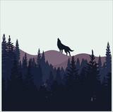 tree background wolf