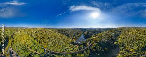 Luftbild Eiswoog im Pfälzer Wald 360° - 225218996