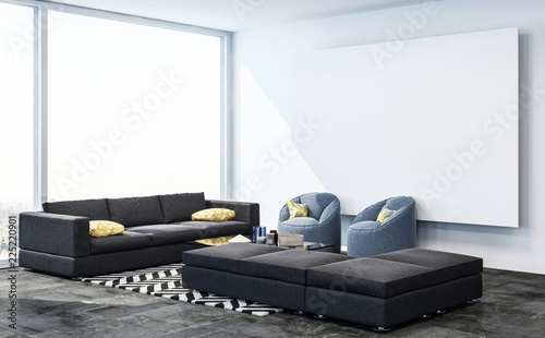sofa in living room - 225220901