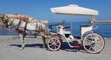 Calèche au port de la Canée