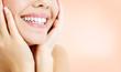 Leinwanddruck Bild - Closeup shot of happy woman smile