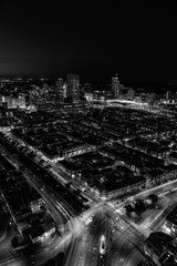 The hague city skyline viewpoint black and white, Netherlands © michael