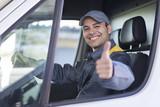 Smiling van driver portrait - 225237174
