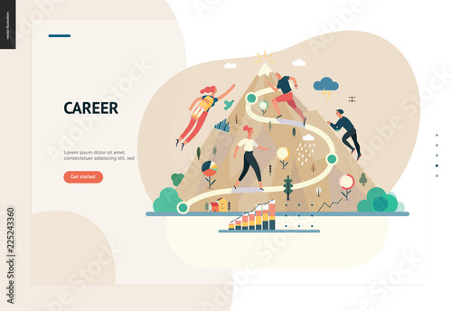 business series color 1 career modern flat vector illustration