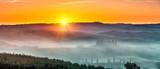 Beautiful Tuscany landscape at sunrise, Italy - 225250179