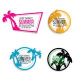 summer logo illustration vector