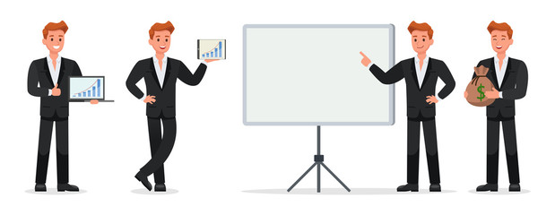 business people vector character design no19
