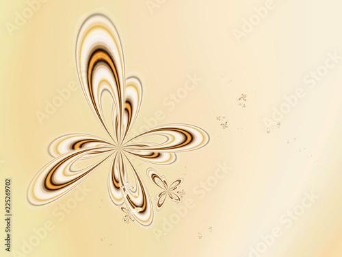 Abstrakcjonistyczni złoci motyli kwiaty na lekkim tle