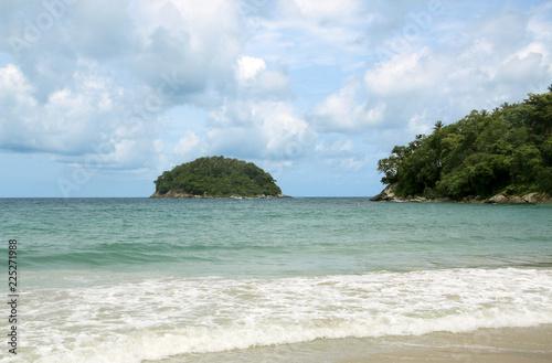 Fototapeten Strand Kata beach and Koh Pu island know also as Crab Island, Phuket, Thailand