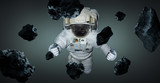 Astronaut isolated on grey background 3D rendering elements of this image furnished by NASA - 225274543