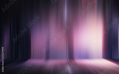 Sticker Abstract light effect texture blue pink purple wallpaper 3D rendering
