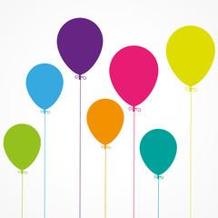 fond abstrait, ballons