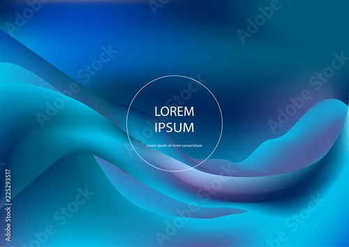 Fluid shapes. Wavy liquid background. Bright abstract backdrop concept. Trendy gradient waves design template vector Poster Layout Magazine Flyer Banner Brochure Product Cover - 225293517