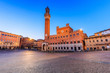 Leinwanddruck Bild - Siena, Italy. Palazzo Publico and Piazza del Campo.