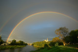 summer landscape with a rainbow - 225303758