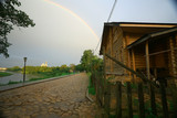 summer landscape with a rainbow - 225303775