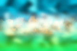 grass sky clouds blurred background, beautiful design spring background - 225305141