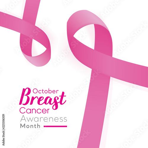 Beautiful Breast Cancer Awareness Campaign Pink Ribbon Symbols On
