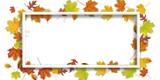 White Frame Autumn Foliage Header - 225316189