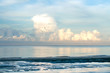 Summer Beach. Empty sea and beach background with copy space. Summer Concept - 225319913