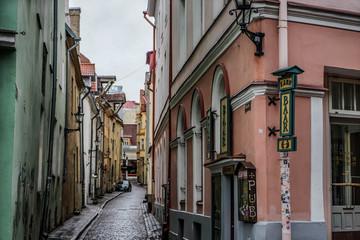 Streetscape of Tallinn UNESCO World Heritage Site