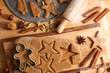 Leinwanddruck Bild - christmas gingerbread biscuit
