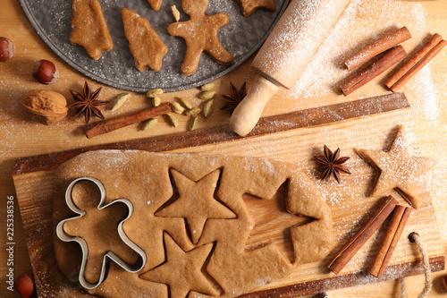Leinwanddruck Bild christmas gingerbread biscuit