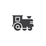 Train toy vector icon. filled flat sign for mobile concept and web design. Locomotive toy simple solid icon. Symbol, logo illustration. Pixel perfect vector graphics