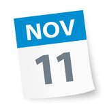 November 11 - Calendar Icon - 225346981