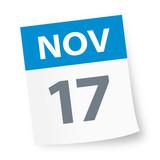 November 17 - Calendar Icon - 225347197