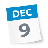 December 9 - Calendar Icon - 225349143