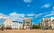Leinwanddruck Bild - Buildings in the city centre of Le Mans, France
