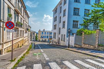 Downhill street in Montmartre