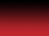 abstract black halftone dots on red gradient background