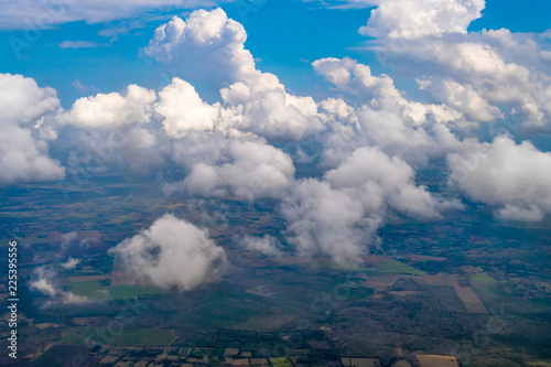 High angle view of clouds above the Cuban countryside - 225395556
