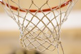 Close Up of Basketball Hoop and Net - 225396163