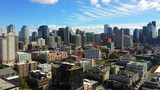 Urban Seattle aerial drone video - 225396501
