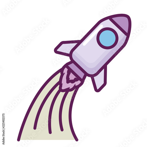 Fototapeta rocket start up icon