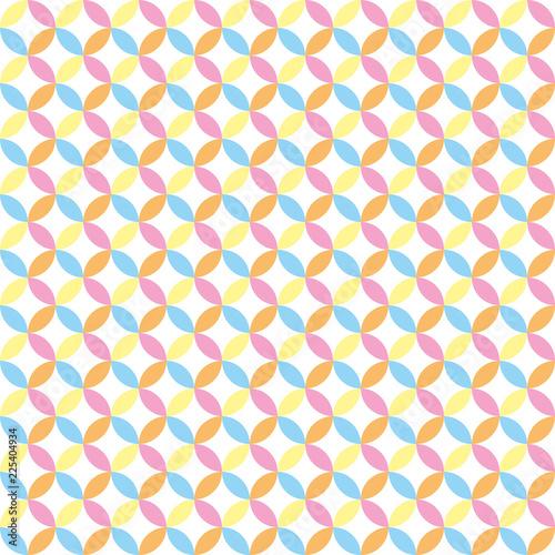 bezszwowe tło geometryczny wzór w niebieski, różowy, żółty, pomarańczowy i biały