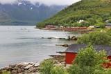Fishing village in Norway - Scandinavian landscape - 225407180