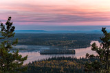 Fototapety Sunset from the top of Teapot mountain - Prince George - British Columbia - Canada